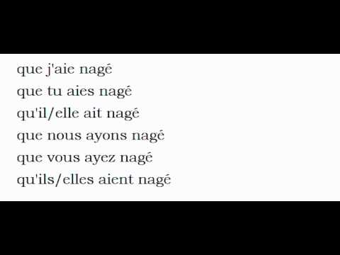 French Conjugation Nager Youtube