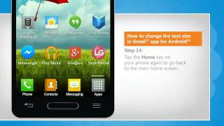 How to change the text size in Gmail® app for Android™ on LG L9