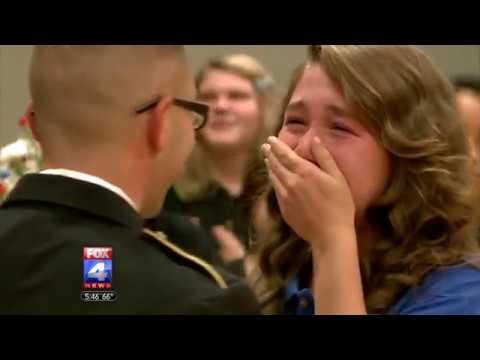 Soldier Father Surprises Daughter at Veteran's Day Assembly in Independence School District