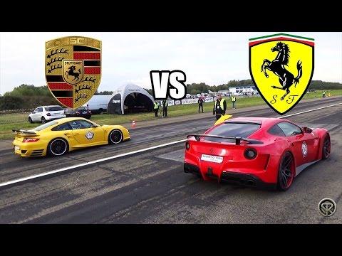 Ferrari F12 NOVITEC N-Largo VS Porsche 9ff 997 Turbo - DRAG RACE!