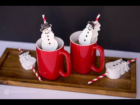Homemade Snowmen Marshmallow Straws - Dixie Crystals