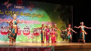 Sharvya Kuchipudi Dance - Idigo Bhadradri Song - TAWCT 2015 Ugadi Celebrations