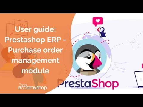 PrestaShop ERP - Purchase Order management Module - YouTube