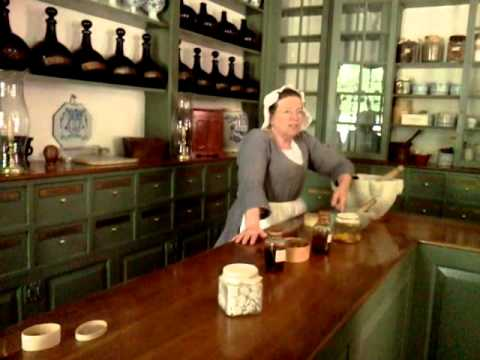 Colonial Williamsburg Apothecary Shop 2011 Trip Youtube