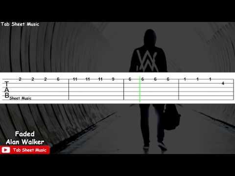 Faded Guitar - Alan Walker(tab tutorial) by Tab Sheet Music. - YouTube