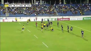 Epic USA team try against Brazil - Americas Rugby Championship