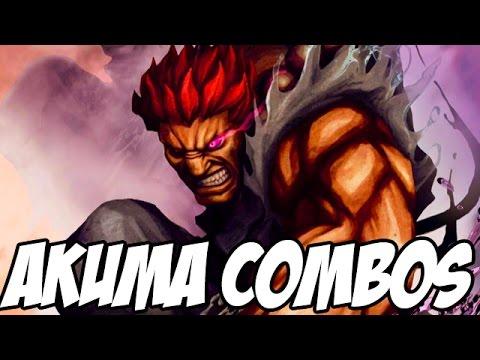 Street Fighter 5 Akuma Combos Challenge Street Fighter V