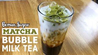 Brown Sugar Matcha Milk Tea recipe (Boba Milk Tea) | Just Cook!