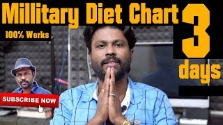 Effective Weight Loss in 3 Days Military Diet Chart in Tamil | Esh Vlog