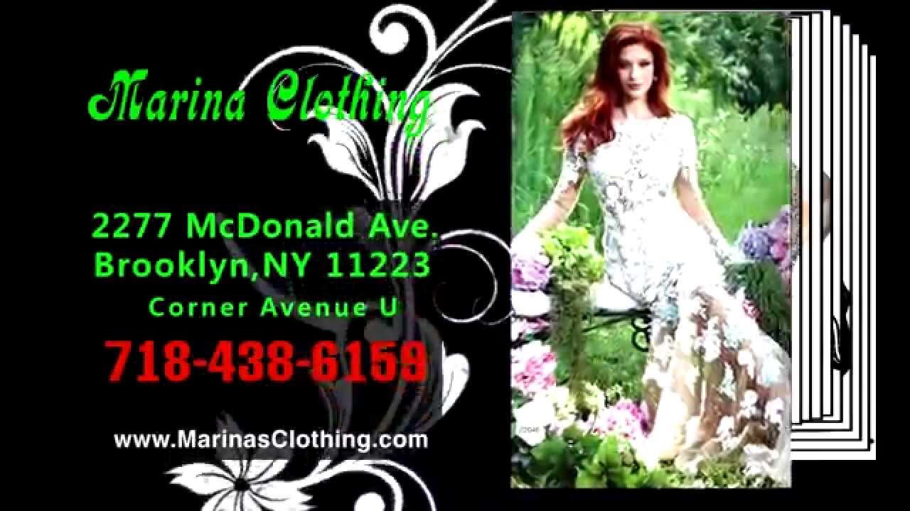 Gorgeous evening gowns @ MARINA CLOTHING - YouTube
