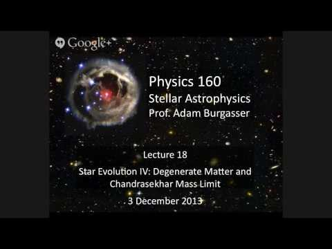 Physics 160 (Fall 2013) Lecture 18: White Dwarfs & Degenerate Matter