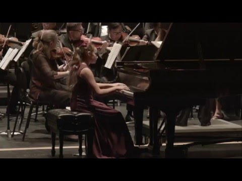 Cassandra Carrasco, 12, performs Mozart's Piano Concerto #23 (Encore: Moszkowski)