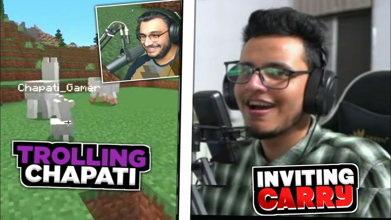 Rawknee Trolls Chapati Gamer   Live Insaan Invites Carry In Avenger Smp   Battle Factor