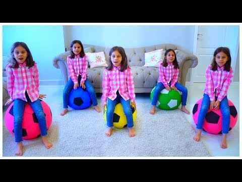 Five Little Monkeys Jumping on the Bed - Action songs for Children by Kids Learning Songs