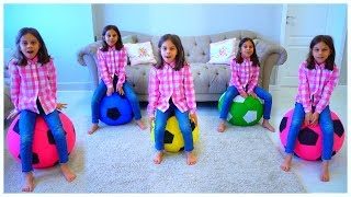 Five Little Monkeys Jumping on the Bed - Nursery Songs for Children by KLS