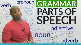 Basic English Grammar: Parts of Speech - noun, verb, adjective, pronoun, adverb...