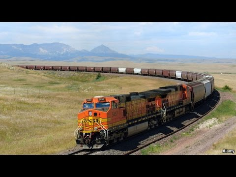 How long is an American freight train? Count!
