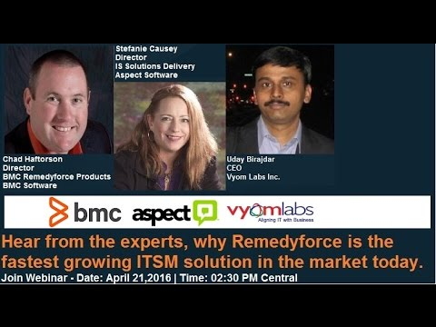 'Leveraging Modern IT service management on the cloud:  A Customer's Experience of BMC Remedyforce'