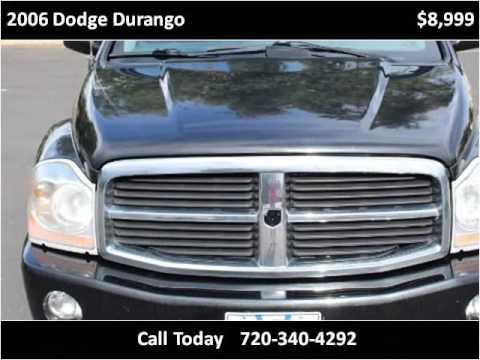 2006 dodge durango used cars longmont co youtube for Victory motors trucks longmont