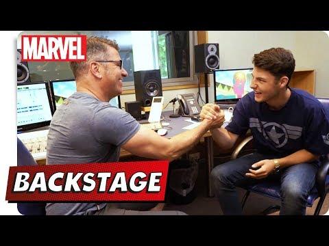 Jonah BACKSTAGE - Im Synchronstudio mit Vision   NEU auf Marvel HQ Deutschland