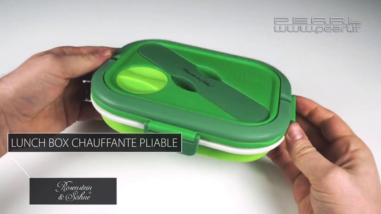 lunchbox chauffante pliable manger chaud sans micro onde pearltv fr youtube. Black Bedroom Furniture Sets. Home Design Ideas