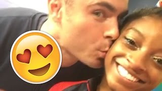 Simone Biles And Zac Efron Finally Meet (And Kiss!) | What's Trending Now