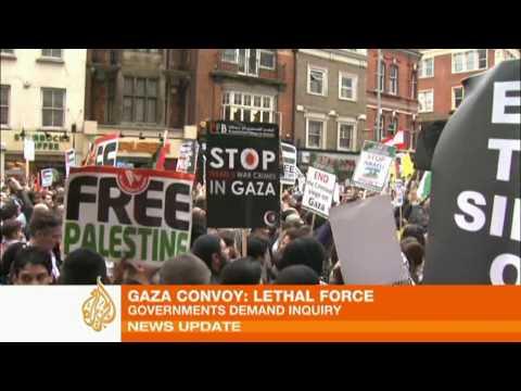 World condemns Israel raid on Gaza aid convoy