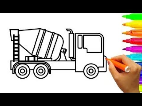 Truck Coloring Pages Learn Colors With Car Carrier Fun Colouring Book Video KidsT
