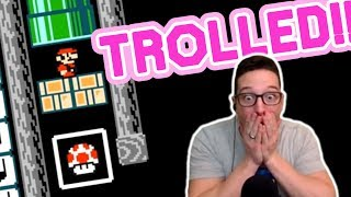 You Will NEVER See This TROLL Coming In This Mario Maker Level!!!
