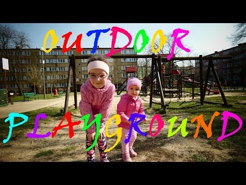 Outdoor Playground Fun for Children, Kids Nursery Rhymes. Plac zabaw dla dzieci