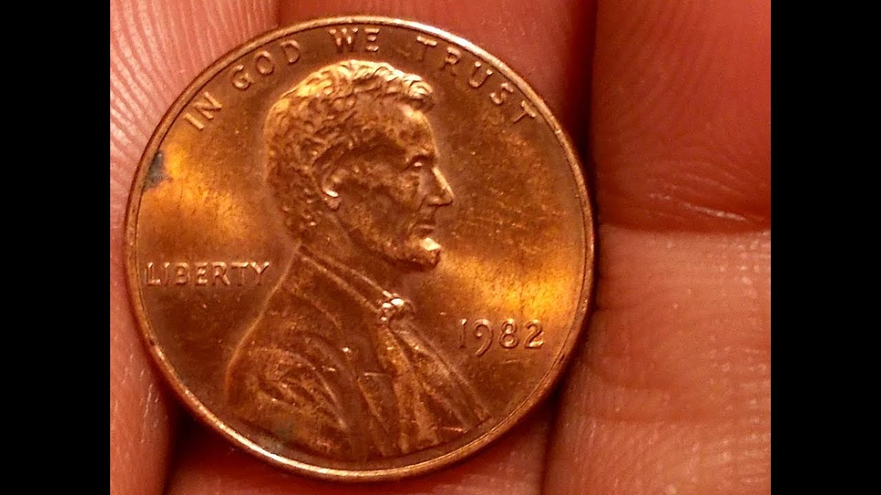 Beck's 1982P small date zinc cent with hidden D mint mark movie-Youtube-Please Subscribe