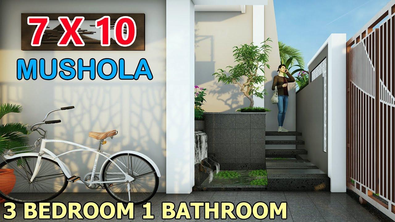 Rumah Minimalis Split Level 1 5 Lantai 7x10 Meter 3 Kamar 3 Toilet Mushola Lahan 7x12 Meter Youtube