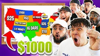Throwing A Dart At A Map & WINNING Whatever It Lands On!! ($10,000 CHALLENGE!!)