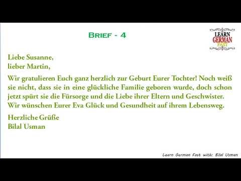 German Brief 4 A1 A2 B1 B2 C1 C2 Youtube