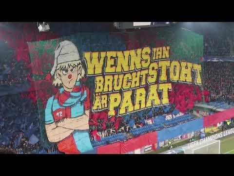 FCB - ManUtd: FANTASTISCHES Intro der FC-Basel-Fans!