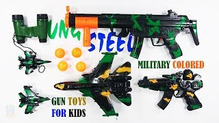 Gun Toys For Kids Military Colored With Sound Playing And Shoot - Gun Toys Video For Kids