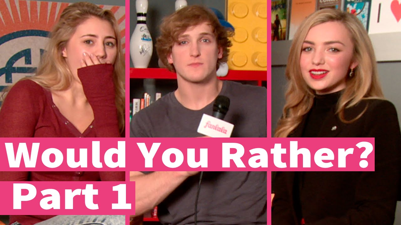 peyton list logan paul and lia marie johnson play would you rather