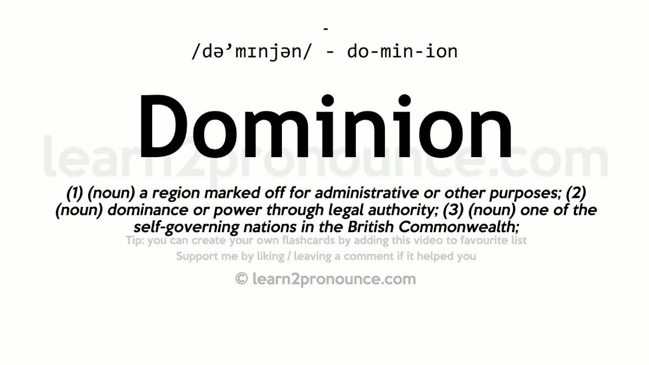 dominion definition biblical