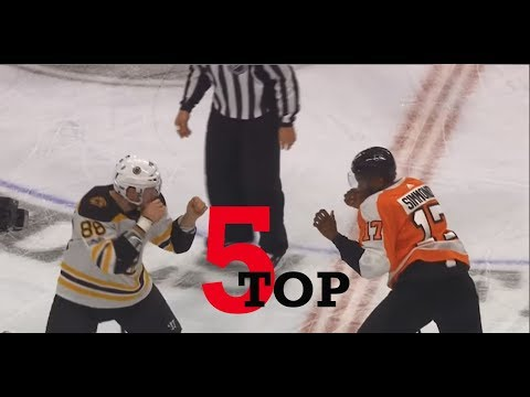 Top Five NHL Hockey Fights of December 2017