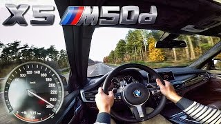 BMW X5 M50d F15 AutoBahn Test Drive Acceleration & Top Speed
