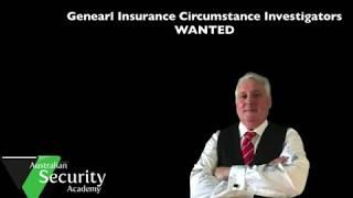Private Investigator. General Insurance Position Vacant