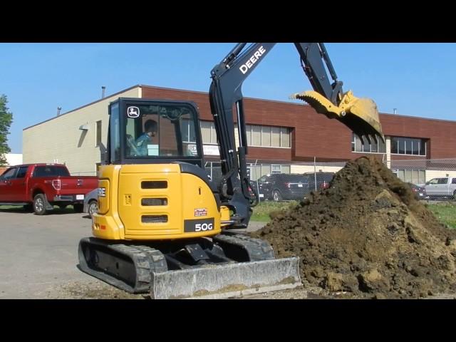 John Deere 50g Mini Excavator | John Deere Excavators: John