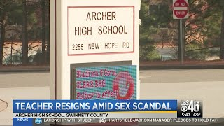 Teacher resigns amid sex scandal