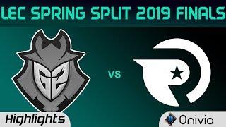 G2 vs OG Highlights Game 1 LEC Spring 2019 Finals G2 Esports vs Origen LEC Highlights By Onivia