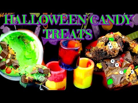 DIY DESSERTS WITH HALLOWEEN CANDY