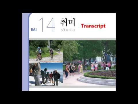 Luyện Nghe Tiếng Hàn Sơ Cấp 1 bài 14 Sở Thích