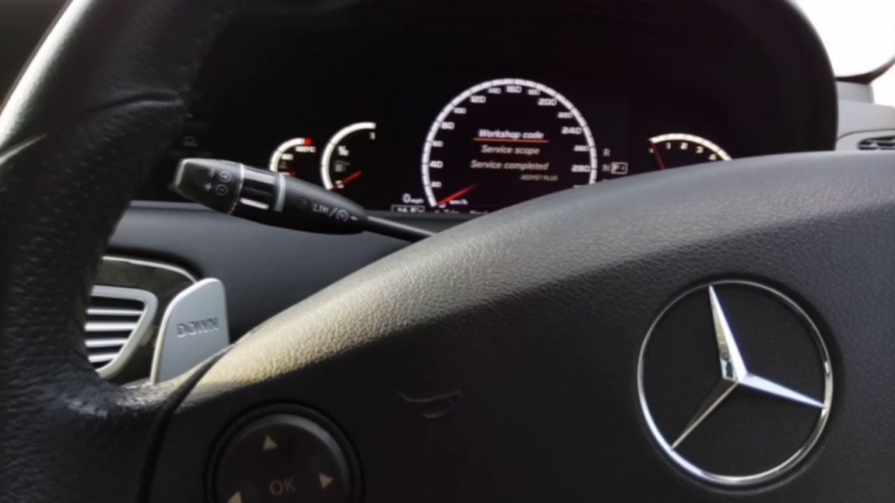 Kasowanie Inspekcji Mercedes S W221 CL Oil Service Indicator Light Reset  Mercedes S W221 CL W216