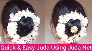 Festival Special Juda Hairstyle Using Juda Net|Maharashtrian Gajra Ambada|AlwaysPrettyUseful