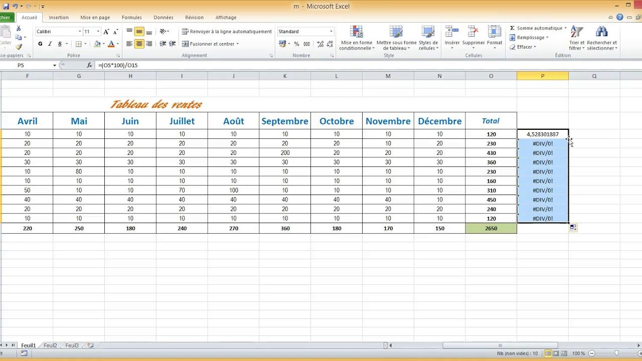 Tuto Gratuit Mon Premier Tableau Excel Youtube