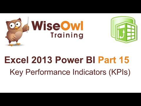 Excel 2013 Power BI Tools Part 15 - Key Performance Indicators (KPIs)